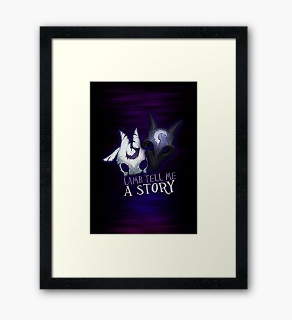 Lamb tell me a story Kindred Framed Print