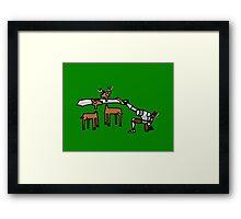 Epic Hunting - Green Framed Print