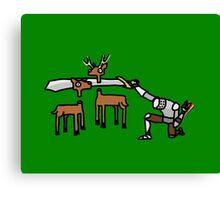 Epic Hunting - Green Canvas Print