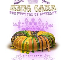 Mardi Gras King Cake by midnightboheme