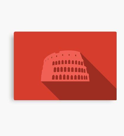 World landmark, Colosseum, Rome, Italy, Europe Canvas Print