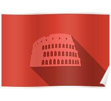 World landmark, Colosseum, Rome, Italy, Europe Poster