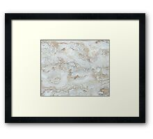 Classic Marble Framed Print
