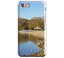 French Regional Park Beach in Autumn iPhone Case/Skin