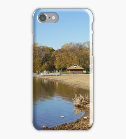 French Regional Park Beach in Autumn iPhone Case/Skin