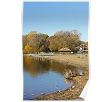 French Regional Park Beach in Autumn Poster