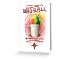 New Orleans SnowBall Greeting Card