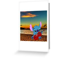 Stitch and a cello - beach Greeting Card