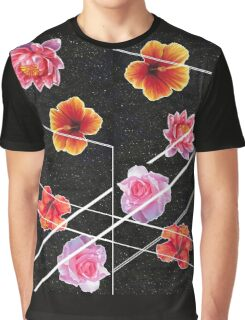 Space Flowers Graphic T-Shirt
