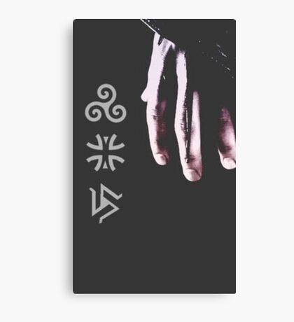 Teen Wolf Pack Symbols Canvas Print