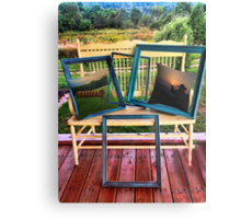 FRAMES & BONITA'S REDBUBBLE PILLOWS WITH A VIEW PICTURE AND OR CARD Metal Print
