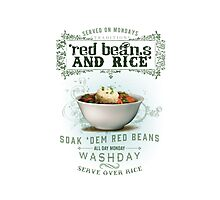 Red Beans and Rice Photographic Print