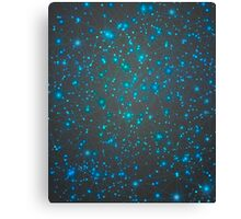 In the Midst of Movement & Chaos (Geometric Web/Constellations) Canvas Print
