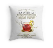 Historic Sazerac Cocktail Throw Pillow