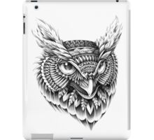 Ornate Owl Head iPad Case/Skin