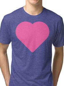 A simple cute and pink heart Tri-blend T-Shirt