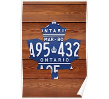 Toronto Maple Leafs Industrial License Plate Art - Cherry Poster