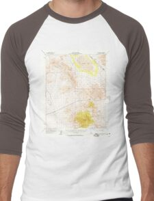 USGS TOPO Map California CA Clark Mountain 297110 1956 62500 geo Men's Baseball ¾ T-Shirt