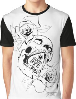 ouija skull with roses Graphic T-Shirt