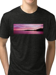 Pink Magenta Sunset.Seascape Tri-blend T-Shirt