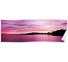 Pink Magenta Sunset.Seascape Poster