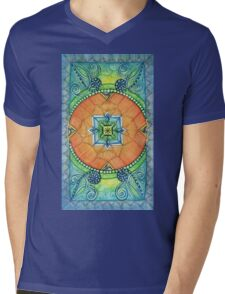 Zendala, Mandala of Color Mens V-Neck T-Shirt