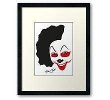 Halloween Clown Trick or Treat Framed Print