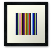 Say It With Stripes Framed Print