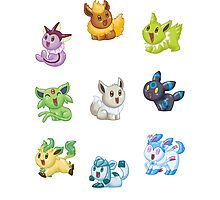 Teenies - Shiny Eeveelutions! Photographic Print