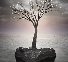 From the Withered Tree, a Flower Blooms (Tree of Solitude) by soaringanchor