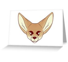 Angry Fennec Greeting Card