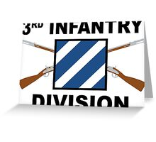 3rd Infantry Division - Crossed Rifles Greeting Card