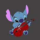 Stitch and a cello dark gray by eleanor89