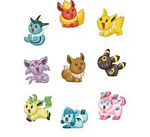 Teenies - Eeveelutions! Photographic Print