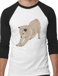 Stretching Dog Men's Baseball ¾ T-Shirt