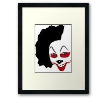 Clown Mask Framed Print