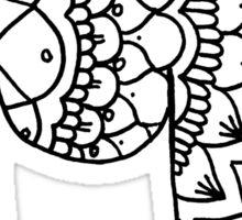 zentangle m: black/white Sticker