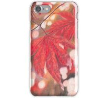 Red Leaf Colored Pencils Drawing iPhone Case/Skin