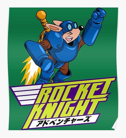 Rocket Knight Laser Blast Ride Poster