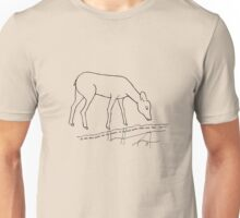 As the Deer Psalm 42:1 By Keren (in black) Unisex T-Shirt