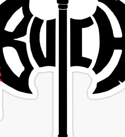 Butch Axe (black) Sticker