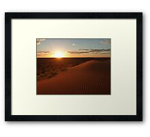 Sunset at Big Red (Birdsville) Framed Print