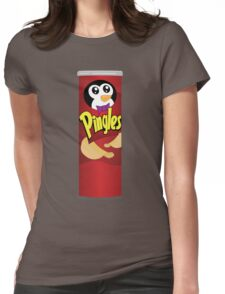 What is a Penguin's Favorite Chip? Womens Fitted T-Shirt