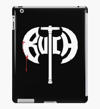Butch Axe (white) iPad Case/Skin