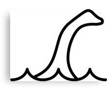 Loch Ness Monster (Black) Canvas Print