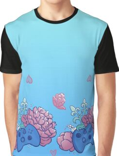 Playing With Flowers Graphic T-Shirt