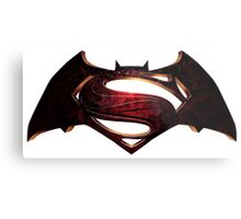 Batman Superman Metal Print