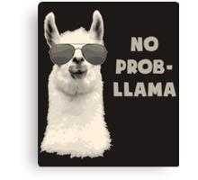 No Problem Llama Canvas Print