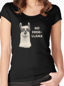 No Problem Llama Women's Fitted Scoop T-Shirt