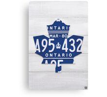 Toronto Maple Leafs Automobilia Decor - White Stain Canvas Print